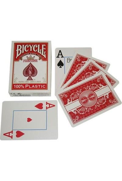 Bilardoavm Bicycle Prestige Plastik Poker İskambil Oyun Kağıdı (Bicycle Oyun Kartı Kırmızı)