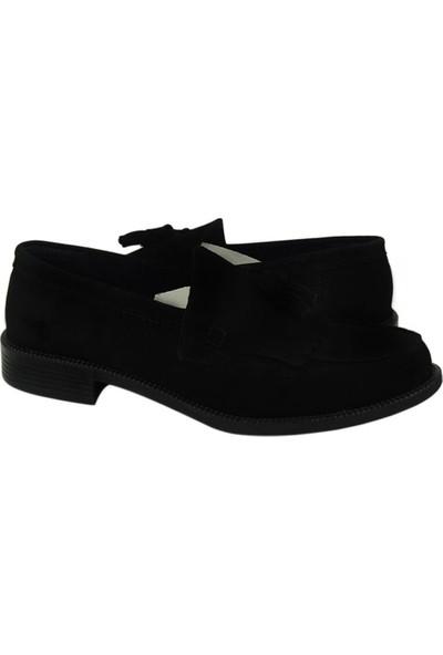 Corcuk Klasik Süet Siyah Ayakkabı