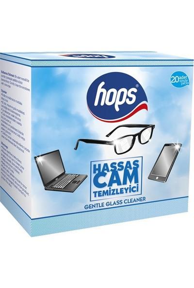 Hops Hassas Cam ve Gözlük Temizle Mendili 20'li