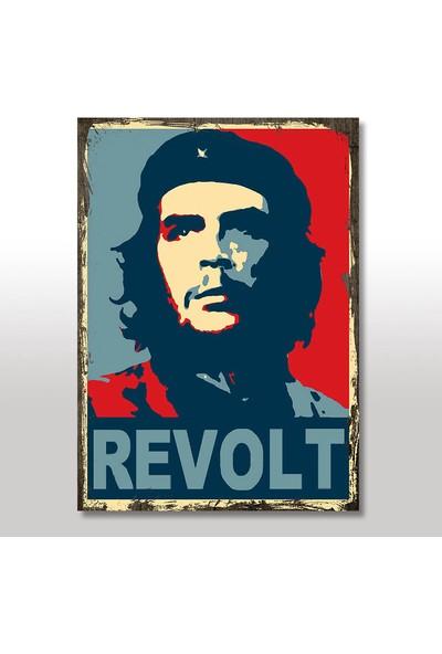 Tablomega Ahşap Tablo Che Guevara Eskitme 50x70 Cm