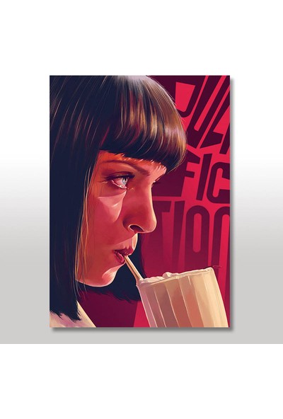 Tablomega Ahşap Tablo Ucuz Roman Pulp Fiction 50x70 Cm
