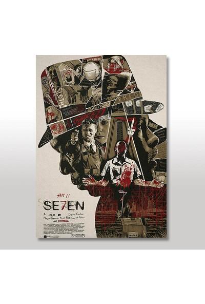 Tablomega Ahşap Tablo Seven Yedi Film Afişi 50x70 Cm