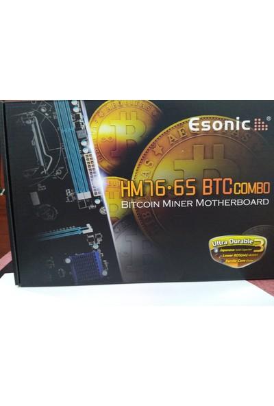 ESonic HM76 65 BTC Intel HM76 1600MHz Soket 988 Anakart