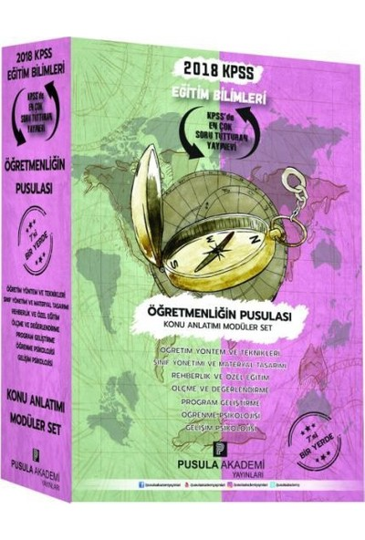 Pusula Akademi 2018 Kpss Eğitim Bilimleri Öğretmenliğin Pusulası Konu Anlatımı Modüler Set