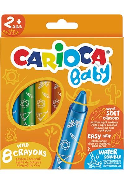 Carioca Jumbo Bebek Yumuşak Pastel Boya Kalemi 8'li 2 Yaş+