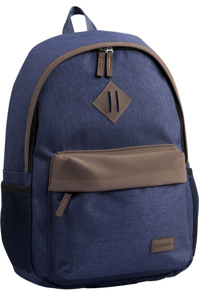 Classone Classone BP-V161LK 15,6 inç Notebook Sırt Çantası-Lacivert-Kahverengi