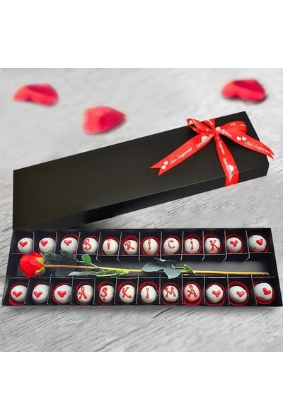 Lezzetliçiçek Biricik Aşkıma Çikolatalı Gül