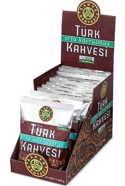 Kahve Dünyası 12li Eko Paket Orta Kavrulmuş Türk Kahvesi 100gr