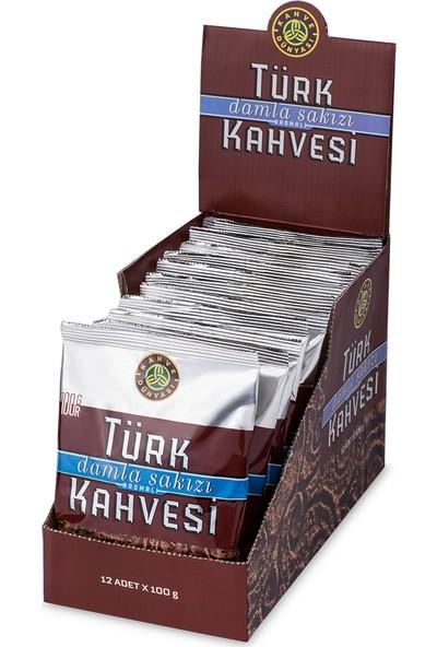 Kahve Dünyası 12li Eko Paket Damla Sakızı Aromalı Türk Kahvesi 100gr