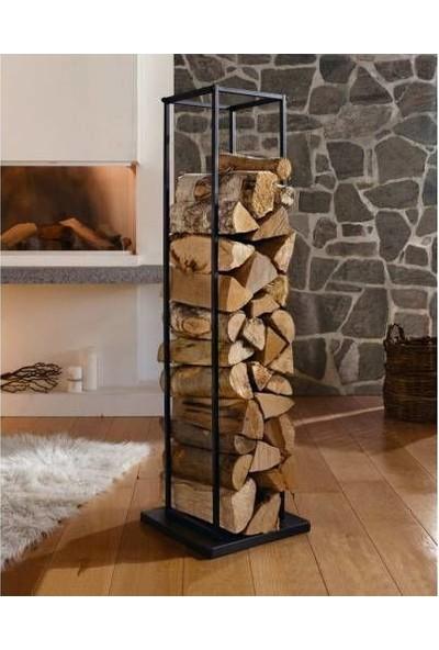 Dekorumbu Dekoratif Şömine Odunluk Raf Kışlık Raflar