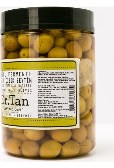 Dr.Tan Doğal Fermente Yeşil Çizik Zeytin 800 Gr.