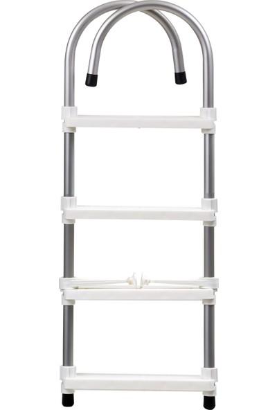 Hobi Store Tekne - 4 Basamaklı Bot Merdiveni ( Beyaz )