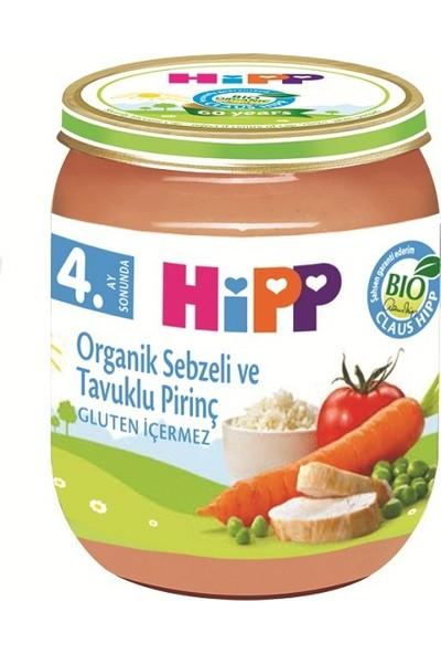 HiPP Organik Sebzeli Ve Tavuk Pirinç 125 gr.