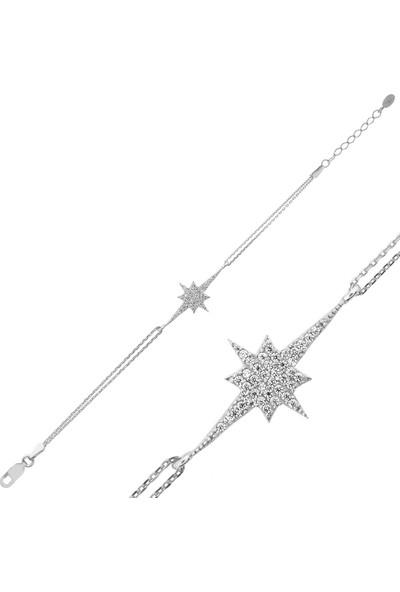 Ervanur Gümüş Kutup Yıldızı Bileklik
