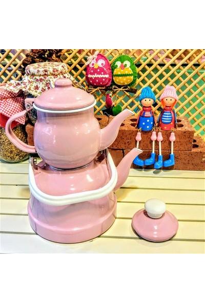 Masster Emaye Çinko Çaydanlık Seti Küçük Boy - Pembe