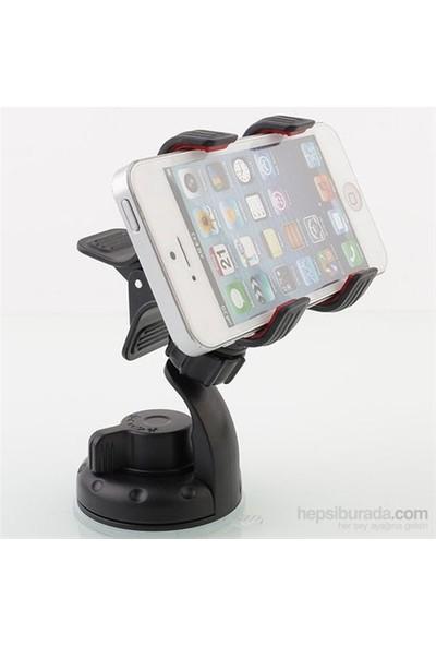 AutoCSI Yeni Tasarım 'Çift Kıskaçlı' Universal Akıllı Telefon Tutucu 20400
