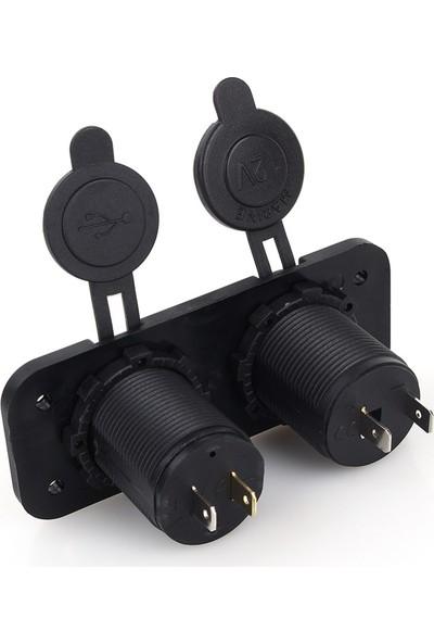 Nxt Çift USB Araç Çakmak Soket 12V Araç Şarj Soketi 2.0A/1A