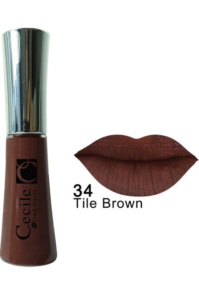 Cecile Kalıcı Mat Ruj / Long Kisses Lipgloss 34