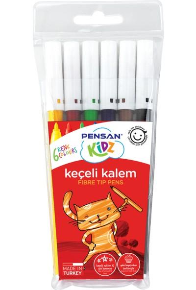 Pensan Kıdz Keçeli Boya Kalemi 6 Renk