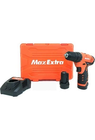 Max Extra MX1215 Lityum İyon Şarjlı Matkap 12V