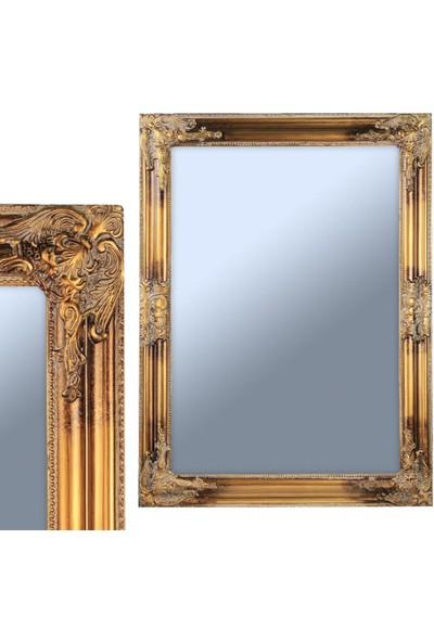 Ancel An309Qd980 Altın Varaklı Antik Ahşap Çerçeveli Ayna