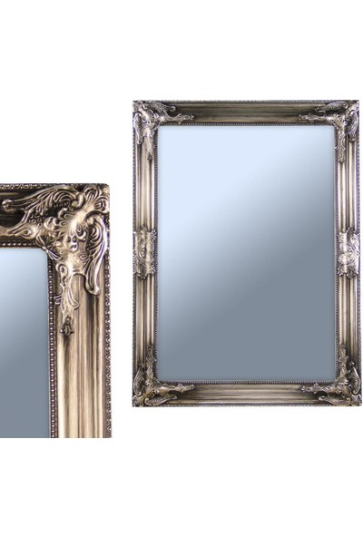 Ancel An309Qd981 Gümüş Kaplamalı Antik Ahşap Çerçeveli Ayna