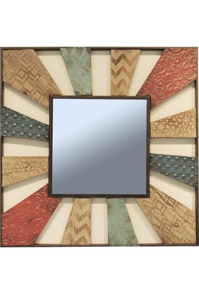 Ancel An315Md218 Ahşap Ve Metal Duvar Aynası