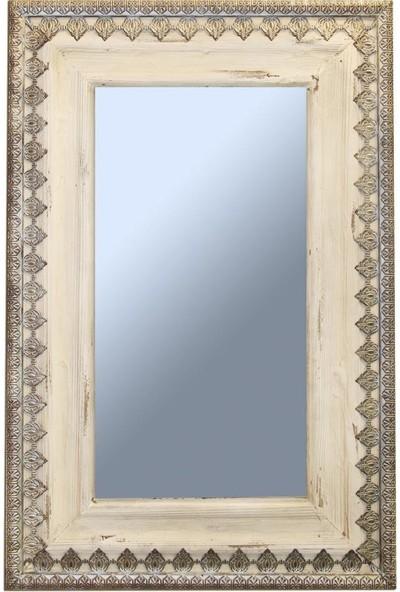 Ancel An315Md399 Ahşap Ve Metal Dikdörtgen Duvar Aynası