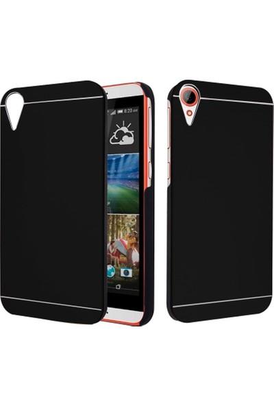 CaseUp HTC Desire 830 Metal Korumalı Kılıf Siyah + Cam Ekran Koruyucu