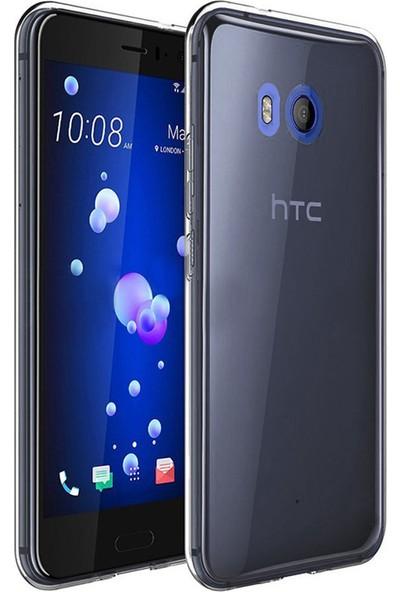 Microsonic HTC U11 Transparent Soft Kılıf Siyah