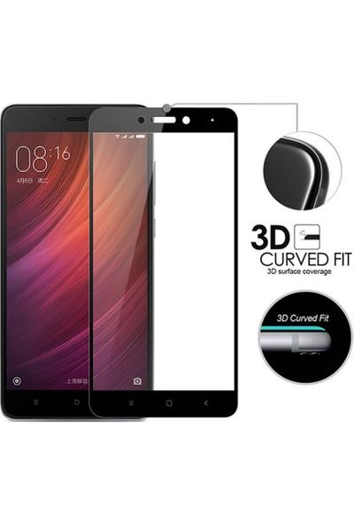 Microsonic Xiaomi Redmi Note 4X Tam Kaplayan Temperli Cam Ekran Koruyucu Siyah