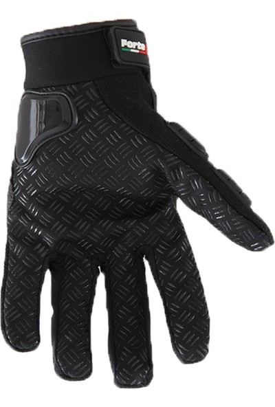 Motosiklet Eldiveni Gt 10 Korumalı Parmaklı Siyah Small