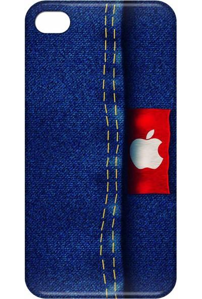 Svart Case Apple iPhone 4/4S Silikon Baskılı Arka Kapak