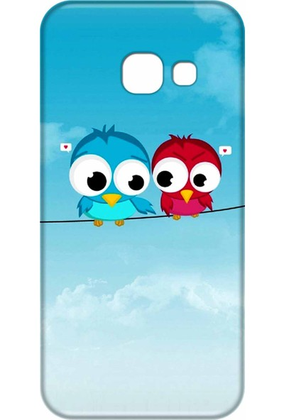Svart Case Samsung Galaxy A3 2017 Silikon Baskılı Arka Kapak
