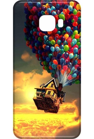 Svart Case Samsung Galaxy C9 Pro Silikon Baskılı Arka Kapak