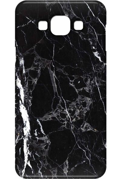 Svart Case Samsung Galaxy E5 Silikon Baskılı Arka Kapak