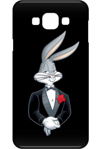 Svart Case Samsung Galaxy E7 Silikon Baskılı Arka Kapak