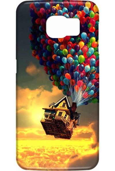 Svart Case Samsung Galaxy S6 Edge Silikon Baskılı Arka Kapak