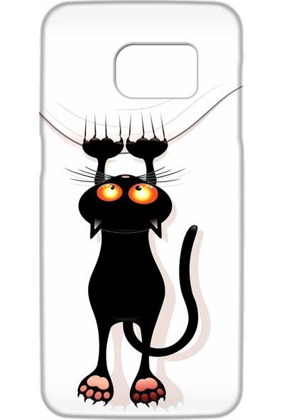 Svart Case Samsung Galaxy S7 Edge Silikon Baskılı Arka Kapak