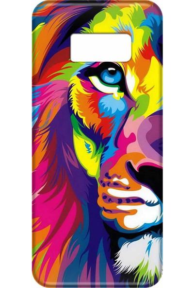 Svart Case Samsung Galaxy S8 Silikon Baskılı Arka Kapak
