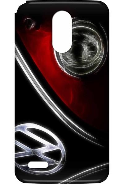 Svart Case LG Stylus 3 Silikon Baskılı Arka Kapak