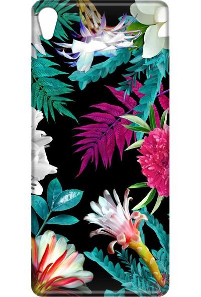 Svart Case Sony Xperia XA Silikon Baskılı Arka Kapak