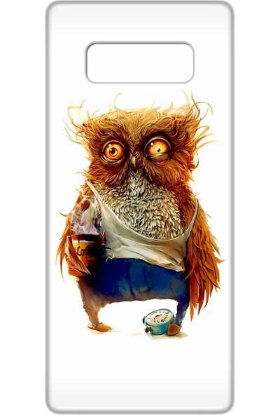 Svart Case Samsung Galaxy Note 8 Silikon Baskılı Arka Kapak