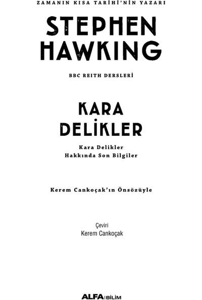 Kara Delikler - Stephen Hawking
