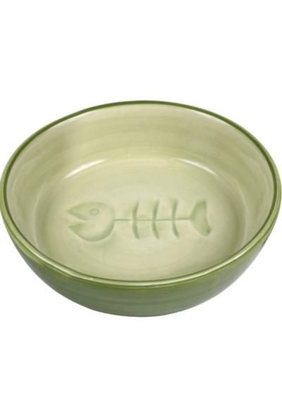 Trixie Kedi Seramik Yem ve Su Kabı 0,2l 13cm Yeşil