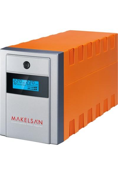 Makelsan Lion+ 1500 VA LCD/USB (2x 9AH) 5-10dk UPS MU01500L11PL005