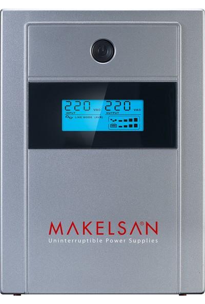 Makelsan Lion+ 2000 VA LCD/USB (2x 9AH) 4-8dk UPS MU02000L11PL005