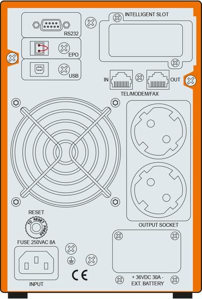 Makelsan P.Pack SE 1 KVA (2 x 7AH) 5-10dk Online UPS