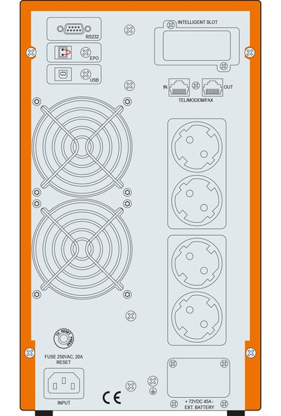 Makelsan P.Pack SE 2 KVA (4x 9AH) 5-10dk Online UPS MU02000N11EAV06