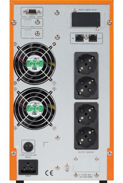 Makelsan P.Pack SE 3 KVA (6x 9AH) 5-10dk Online UPS MU03000N11EAV03